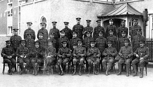 Officers and NCO's of 12th Royal Sussex